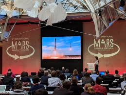 """Adam McSweeney on Twitter: """"Margarita Marinova of @SpaceX is presenting on  commercial capabilities to accelerate timeline and decrease cost for return  of samples from Mars #MSR2018… https://t.co/gsv12AstrZ"""""""
