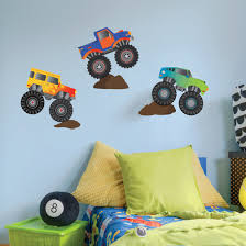 Monster Truck Wall Decals Removable Monster Truck Wall Stickers Kids B