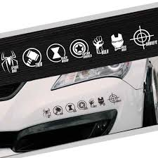 Marvel Avengers Super Hero Logo Car Auto Vinyl Reflective Decal Sticker Window Ebay