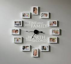 how to create a photo wall clock time