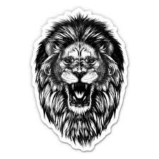 Angry Lion Mane Fierce 8 Vinyl Sticker For Car Laptop I Pad Waterproof Decal Walmart Com Walmart Com