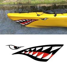Faroot 2 Pieces Creative Shark Teeth Mouth Vinyl Decal Stickers For Kayak Canoe Dinghy Boat Wall Stickers Aliexpress