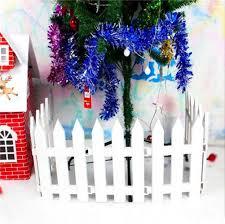Hrpa White Plastic Picket Fence Christmas Trees Decorating For Xmas Tree Home Wedding Festive Party 4 Pcs Amazon Co Uk Kitchen Home