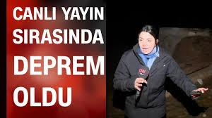 CNN TÜRK muhabiri ve kameramanı Van'da canlı yayında 5,9'luk ...