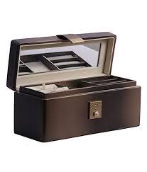 uberlyfe copper gold jewellery box with