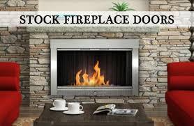 fireplace doors glass fireplace doors