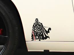 Buy Darth Lightsaber Dark Side Force Jedi Sith Galactic Empire Car Laptop Vinyl Sticker Decal
