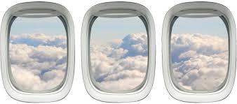 Amazon Com Aviation Decals Airplane Window Sticker Clouds Wall Art Vwaq Ppw13 Home Kitchen