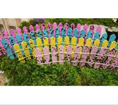 Colorful Fairy Garden Picket Fence Accessory Miniature Wood Fence For Fairies Supplies For Terrariums Miniatures For Gardens In 2020 Fairy Garden Miniature Fairy Gardens Fairy Garden Accessories