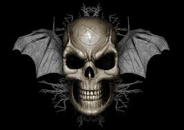 cool skull with wings hd wallpaper