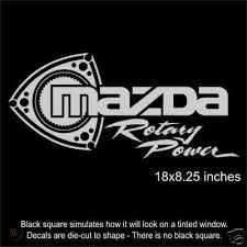 Mazda Rotary Power Large Diecut Vinyl Decal Sticker 39711443
