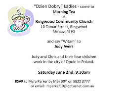 PPT - RSVP to Myra Parker by May 30 th on 8822 3777 or email:  mparker10@optusnet.au PowerPoint Presentation - ID:6812955