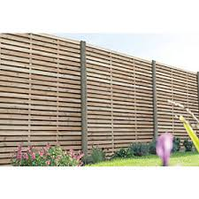 Forest Garden Contemporary Double Slatted Fence Panel 6ft X 6ft Wickes Co Uk