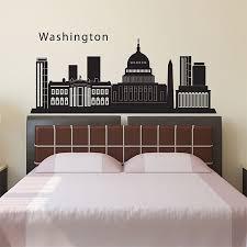 Washington Dc City Skyline Silhouette Vinyl Wall Art Decal