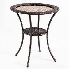 rattan wicker steel coffee table round