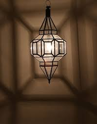 moroccan clear glass ceiling lamp with