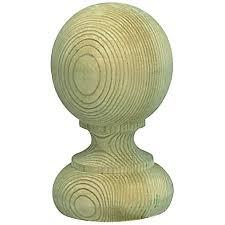 Wickes Deck Post Ball Green 77 X 77 X 128mm Wickes Co Uk