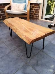 waney edge oak slab table tops with