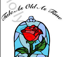 beauty and the beast clipart rose