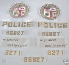 Lapd Full Vinyl Decal Set Entire Police Car Restoration 32769890