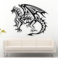 Fire Tribal Dragon Reptile Scale Flying Wings Wall Stickers For Nursery Boys Bedroom Art Decor Vinyl Wall Decals Sticker Wall Stickers Love Wall Stickers Murals From Joystickers 11 94 Dhgate Com