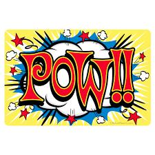 Pow Comic Book Sound Effect Vinyl Sticker At Retro Planet