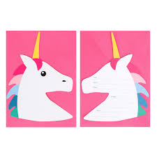 Invitacion Unicornio 8 Uds My Party By Noelia