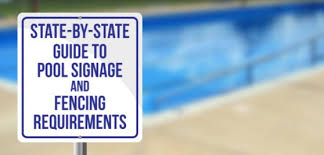 swimming pool sign fence laws all