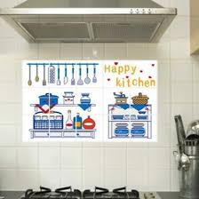Free Download Happy Kitchen Oil Proof Wallpapers Kitchen Wall Decals 550x550 For Your Desktop Mobile Tablet Explore 45 Vinyl Wallpaper For Kitchen Vinyl Wallpaper For Bathrooms Removable Wallpaper Decals