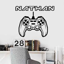 Coustom Name Gamer Wall Sticker Vinyl Decor For Kids Room Game Room Decoration Background Wall Art Decal Aliexpress