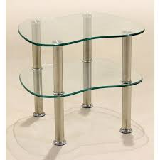 hudson clear glass display stand side