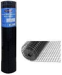 Amazon Com Mtb Black Pvc Coated Welded Wire Mesh Garden Economy Fence 48 Inch X 25 Foot 1 Inch X 1 Inch 16ga Garden Outdoor