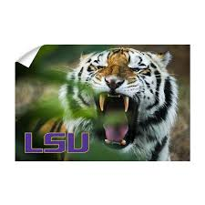 Lsu Tigers Mike The Tiger Officially Licensed Wall Art College Wall Art
