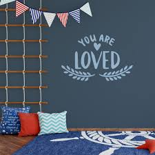 You Are Loved Wall Decal Love Quote Sticker Nursery Wall Decor Motomoms Decor