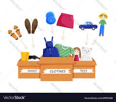 clothes donation royalty free vector image