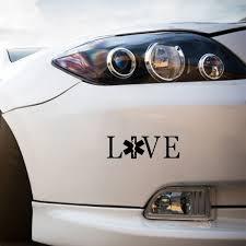 Car Styling Love Emt Decal Ems Paramedic Ambulance Car Window Car Sticker Black Sliver 15 X 5 5 Cm Wish