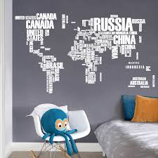 White English Letters World Map Wall Stikers For Office Study Room Living Room Home Decor Mural Art Diy Pvc Wall Decal Wall Stickers Aliexpress