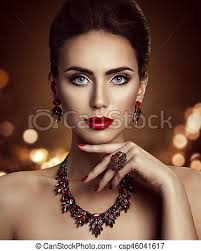 fashion model beauty makeup and jewelry