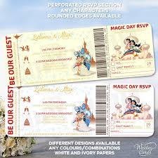 Aladdin And Jasmine Invitaciones De Cumpleanos Personalizadas