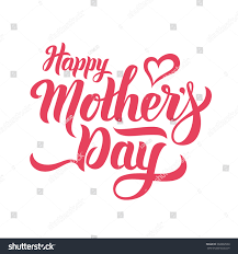 Happy Mothers Day Lettering Handmade Calligraphy Stock Vector ...