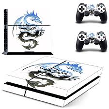 Dragon And Lion Decal Ps4 Skin Sticker For Sony Playstation 4 Console And Controllers Ps4 Skins Stickers Vinyl Stickers Aliexpress