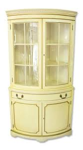 french country corner cabinet with