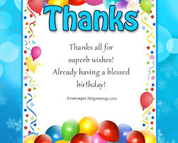 thank you message for birthday wishes on facebook greetings com
