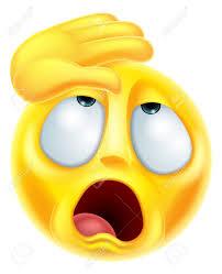 Un évanouissement De Bande Dessinée Emoji Mélodramatique Caractère ...