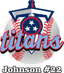 Twin City Titans Custom Baseball Car Window Decals Stickers Helmet Decals For Softball Fastpitch Bag Tags Bat Knobs