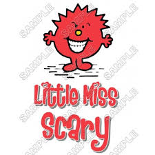 Mr Men And Little Miss Scary T Shirt Iron On Transfer Decal