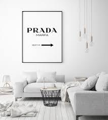 Prada Marfa Portrait Wall Art Print Free Shipping Fy Pink Wall Art Typography Wall Art Wall Decor Bedroom