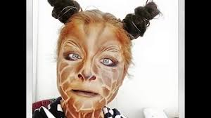 halloween makeup tutorial giraffe keb