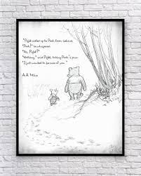 Winnie The Pooh Classic Pooh Pooh Wall Art Pooh And Piglet Etsy