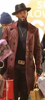 double ted trench leather coat